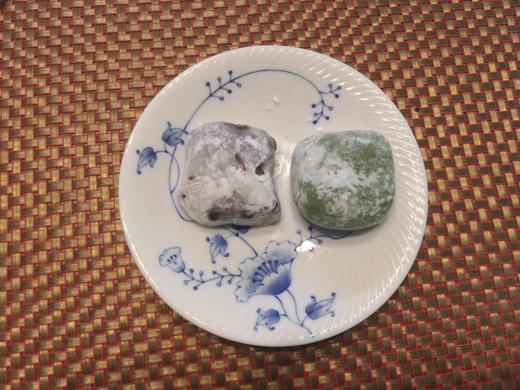 豆大福と草あん餅