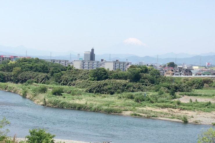 神川橋からの富士山