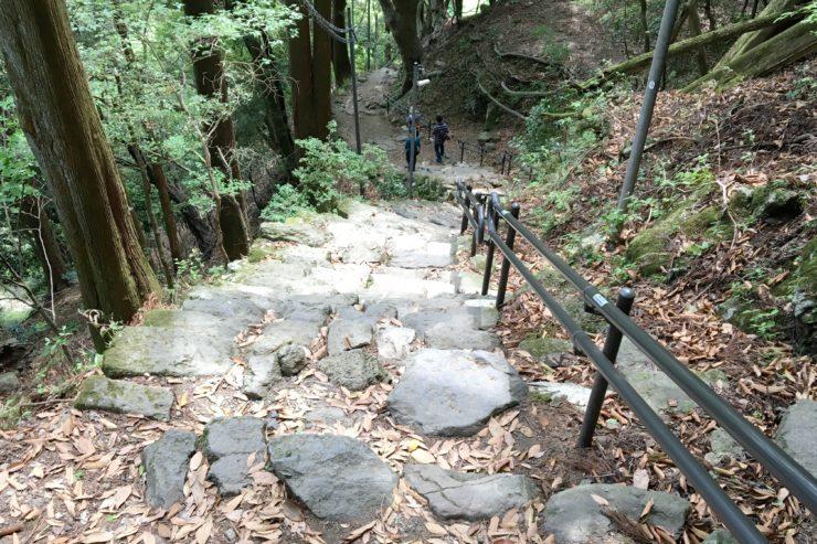 阿夫利神社までの階段