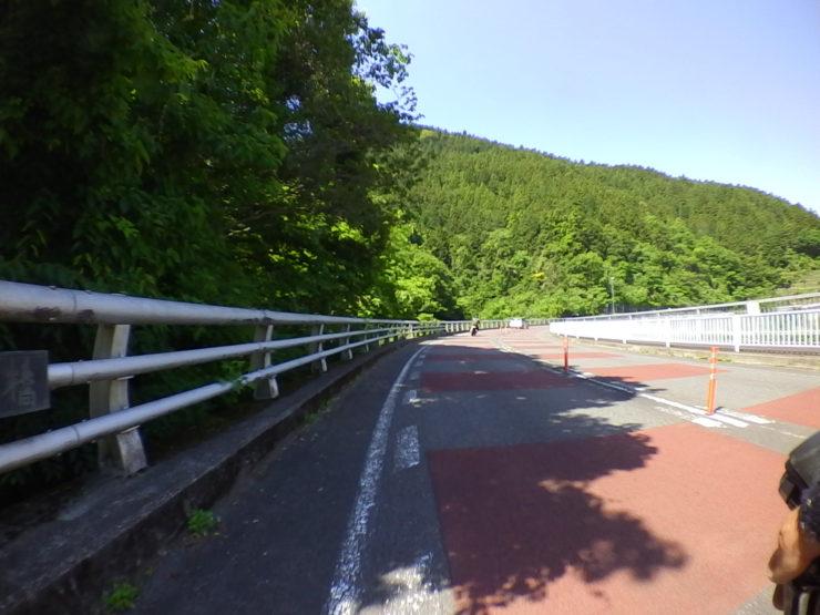 湖畔沿いの道