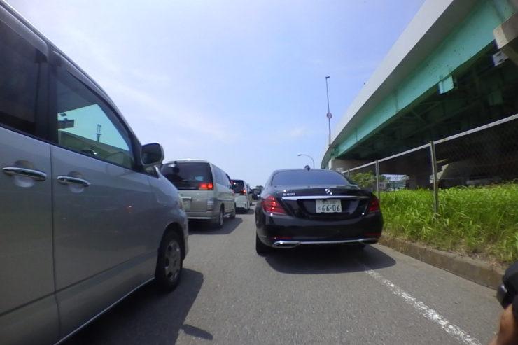 大磯港大渋滞