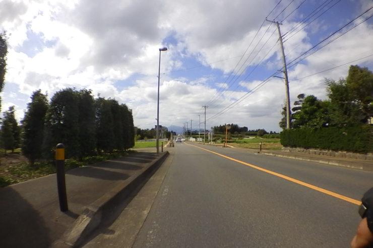 小出川沿いの道