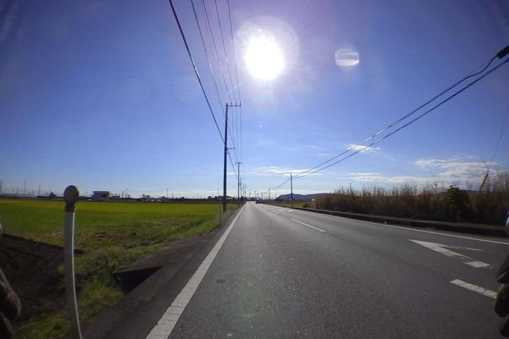 太陽まぶしい