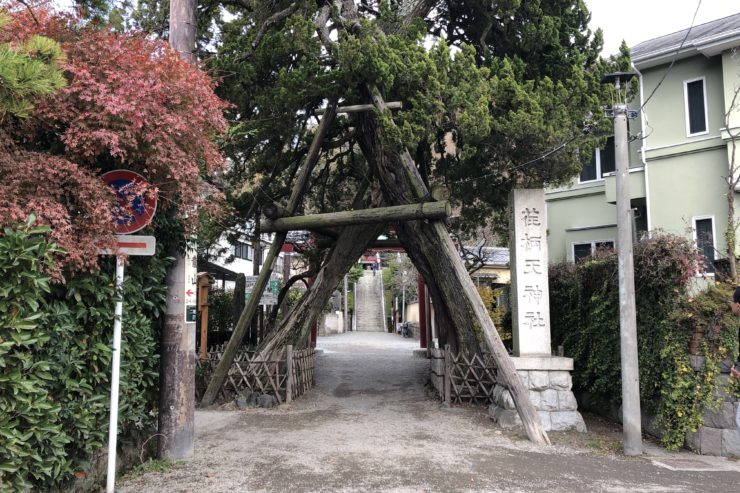 荏柄天神社入口