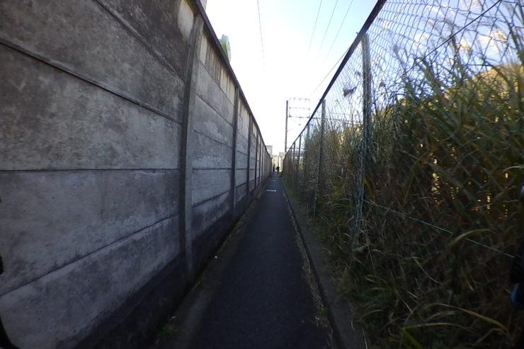 自転車がやっとの道