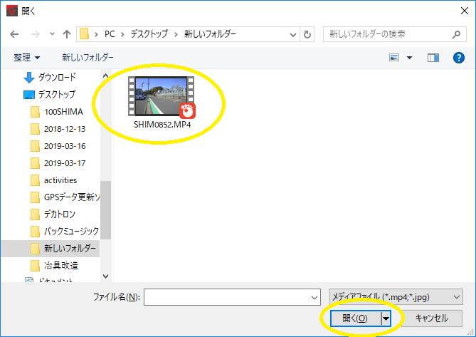 VIRE Editファイル選択
