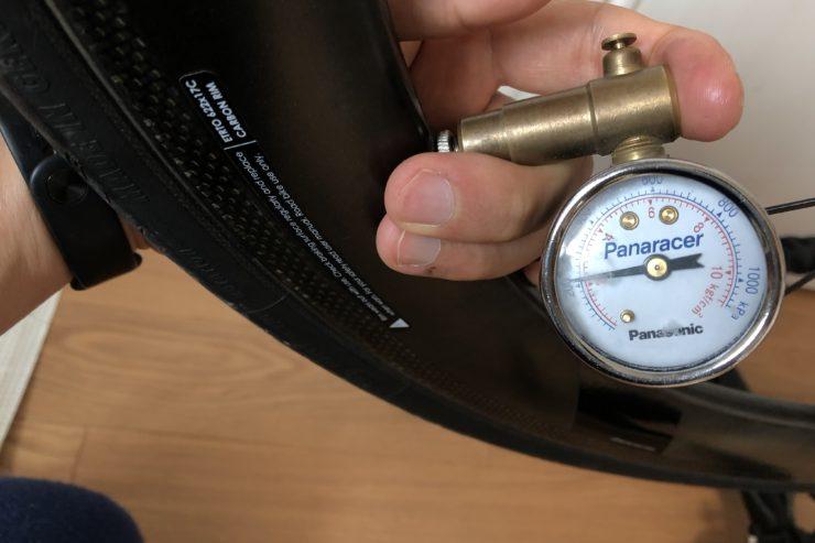 ロードバイクタイヤ空気圧