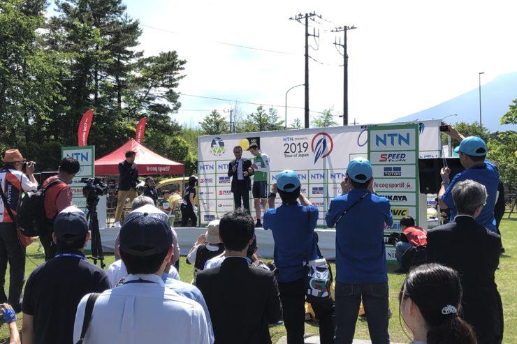 ツアー・オブ・ジャパン富士山ステージ表彰式