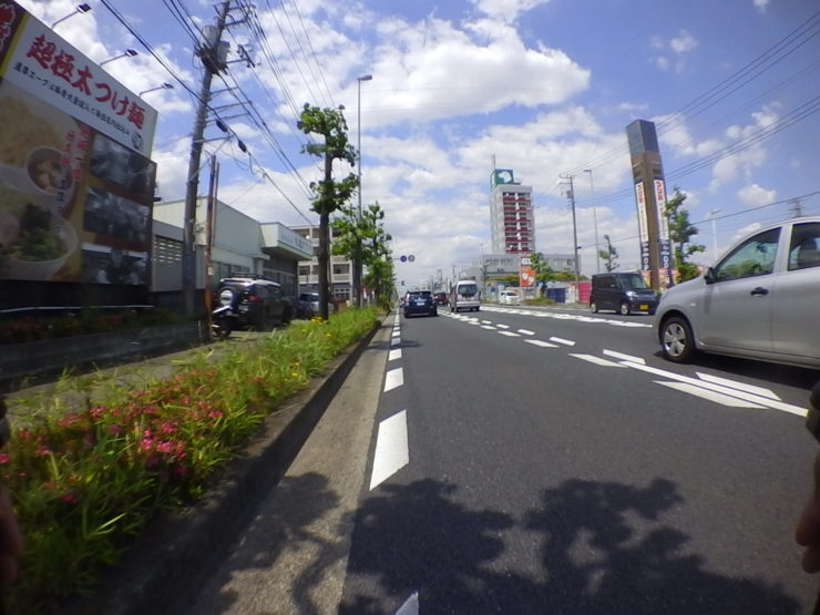 片側2車線道路