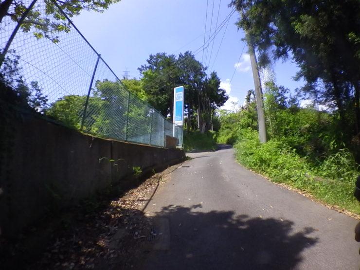 小田原郊外の傾斜道