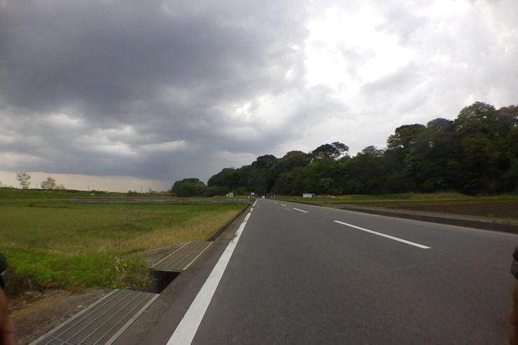 愛川町での雨雲