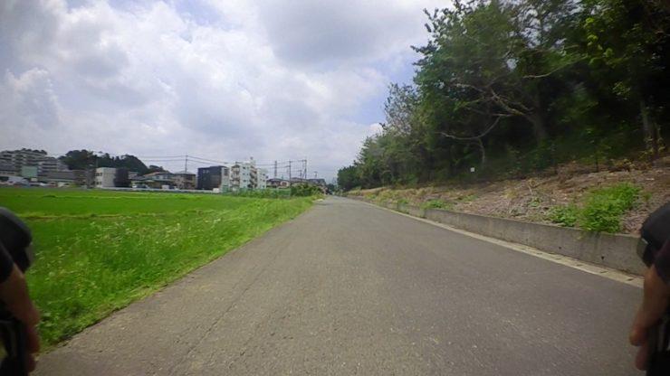 田んぼ横の道
