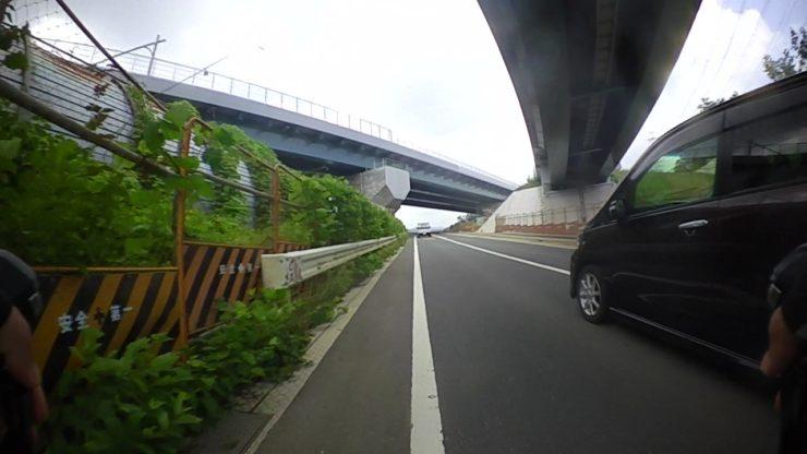 工事中の道