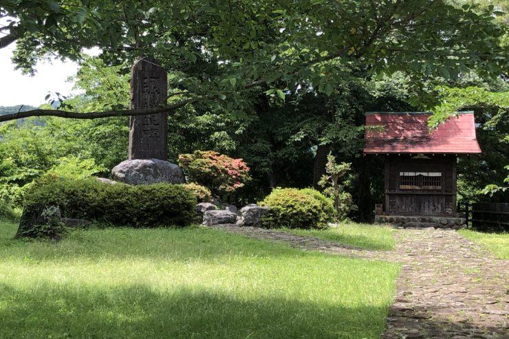 河村城跡の石碑