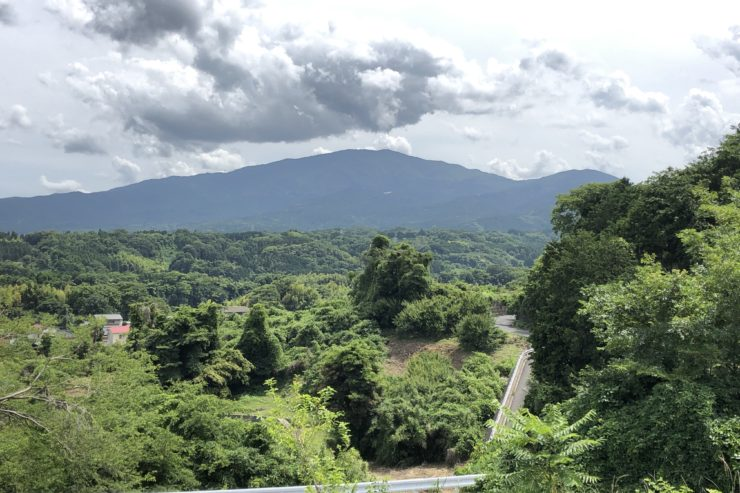 河村城跡途中からの景色