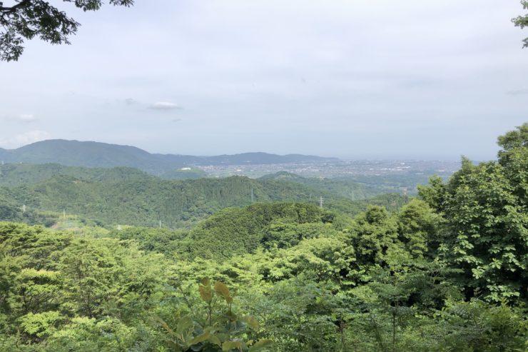 山北つぶらの公園展望広場からの景色
