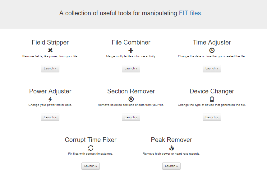 FIT File Tools