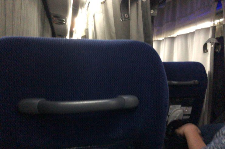 深夜バス車内