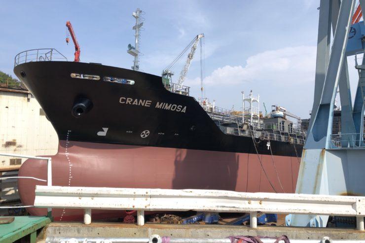 伯方島の造船所