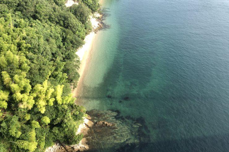 来島海峡大橋からの景色