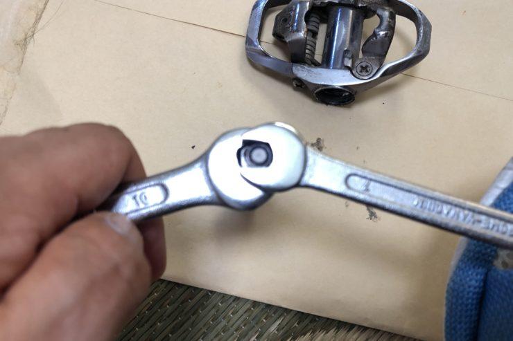 ビンディングペダルシャフト分解