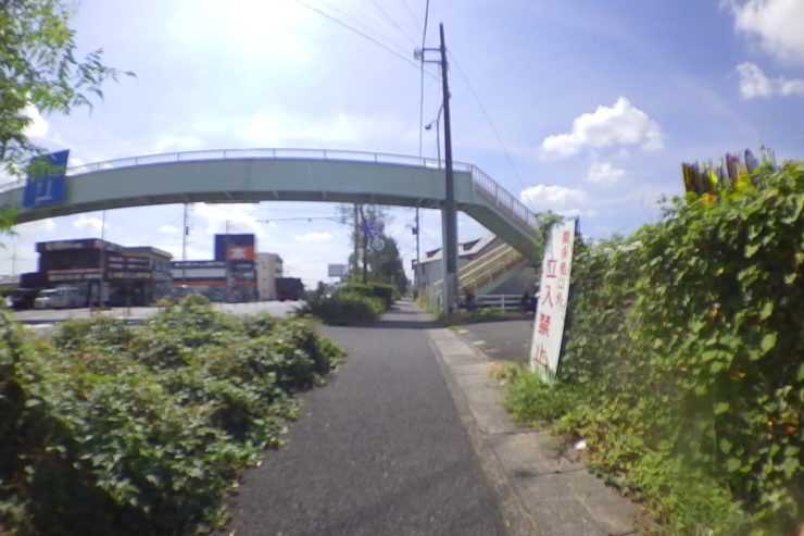 おすすめの道への曲がり角