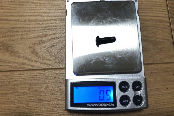 モトサイクルスクリーンボルト重量