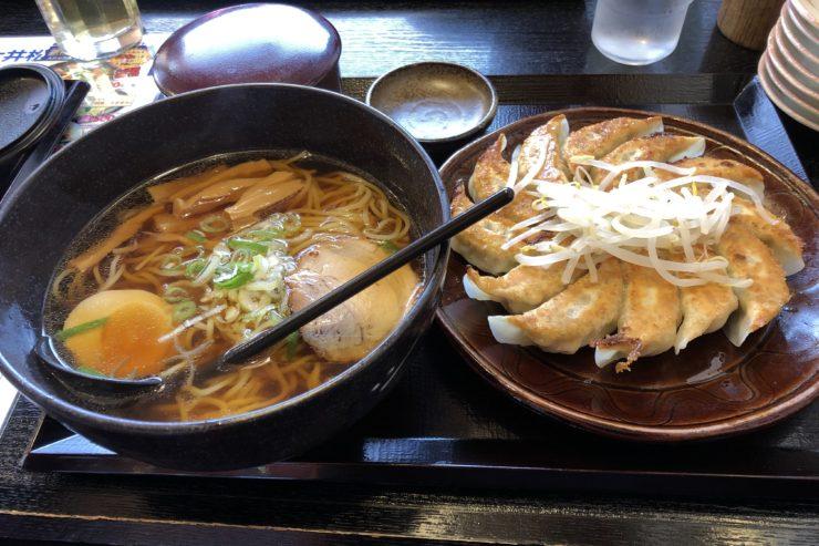 浜松餃子とラーメンセット