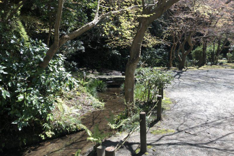 旧華頂宮邸の小川