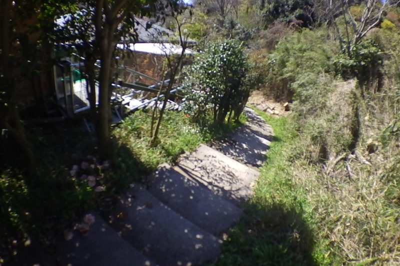 今泉の住宅街の階段
