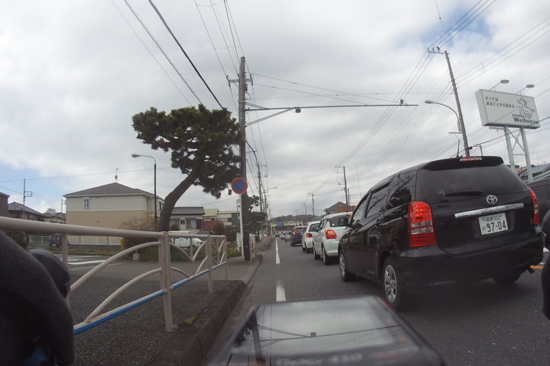 国道1号線の渋滞