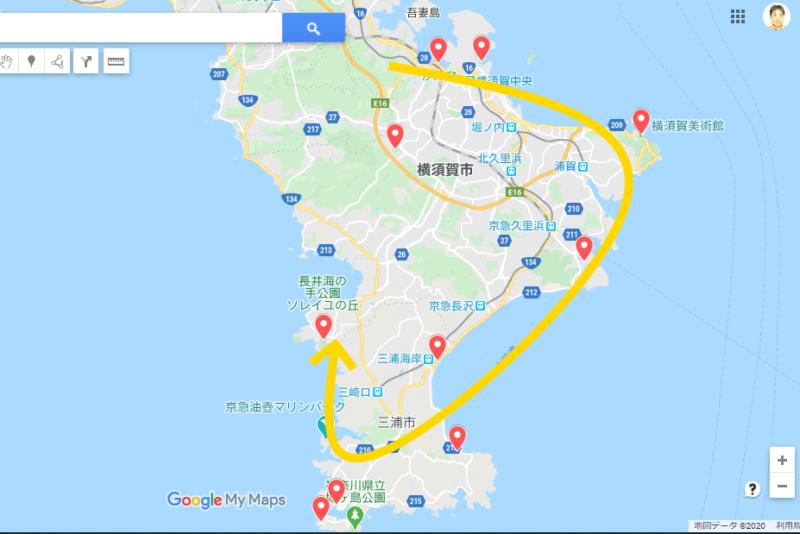 南房総・三浦半島サイクルスタンプラリールート案