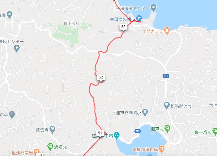 南房総・三浦半島サイクルスタンプラリーのルートマップ