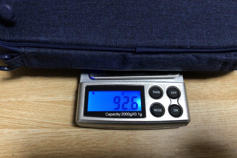 ワークマンのサイクルウォレットの重量測定