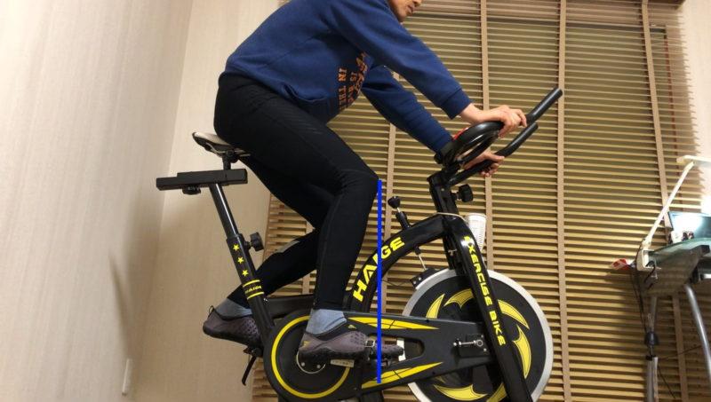 自転車の傾斜面での着座位置
