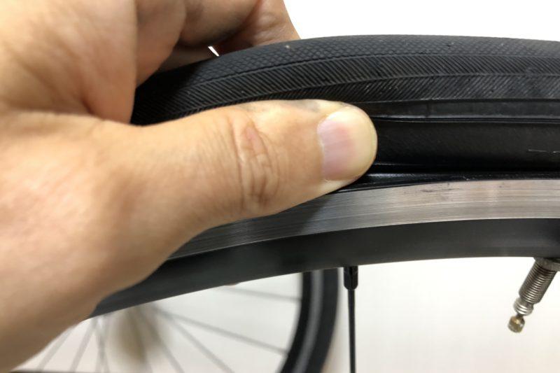 クロスバイクタイヤの脱着