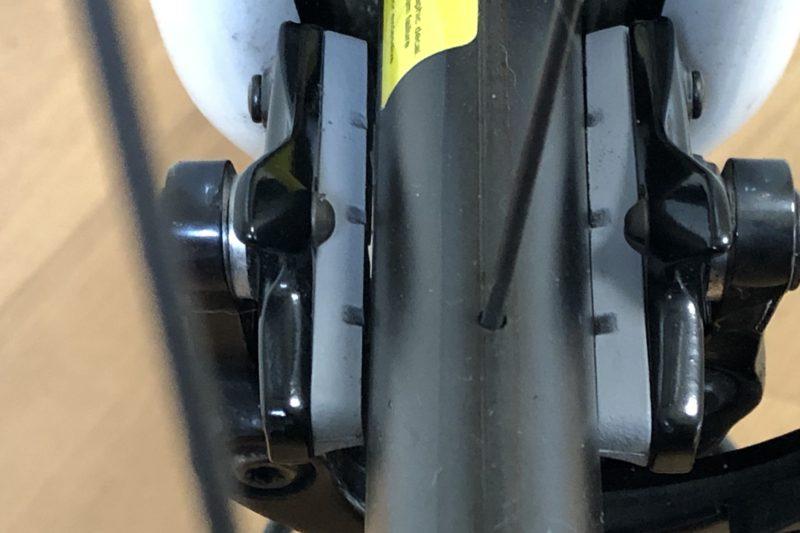 ブレーキの左右差の確認