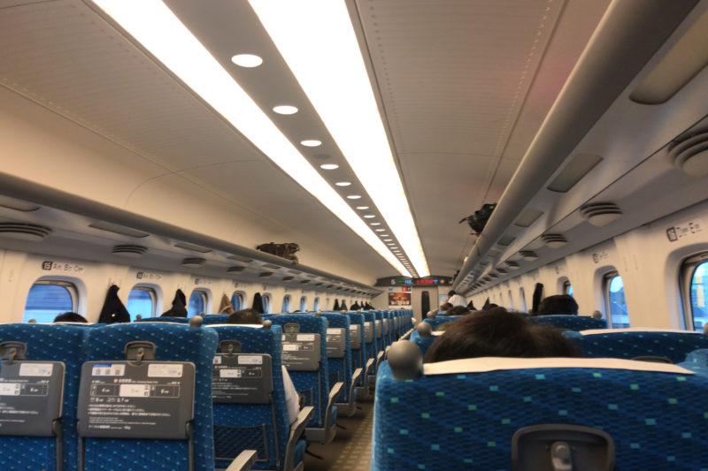 コロナ禍の新幹線車内