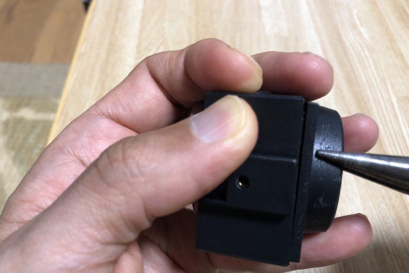 警報器付きリヤライトの分解