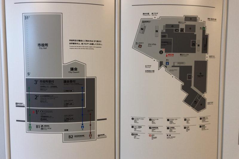 横浜市役所見取り図