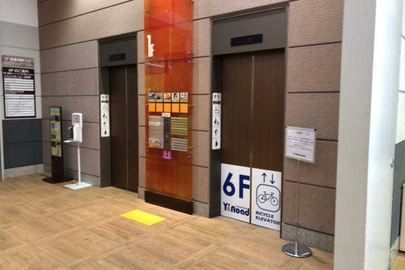ワールドポーターズのエレベーター