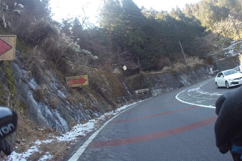 宮ケ瀬湖への道