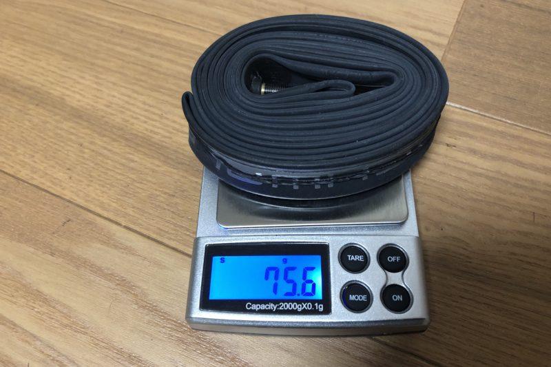 シュワルベのエクストラライト(40mmバルブ)の重量測定