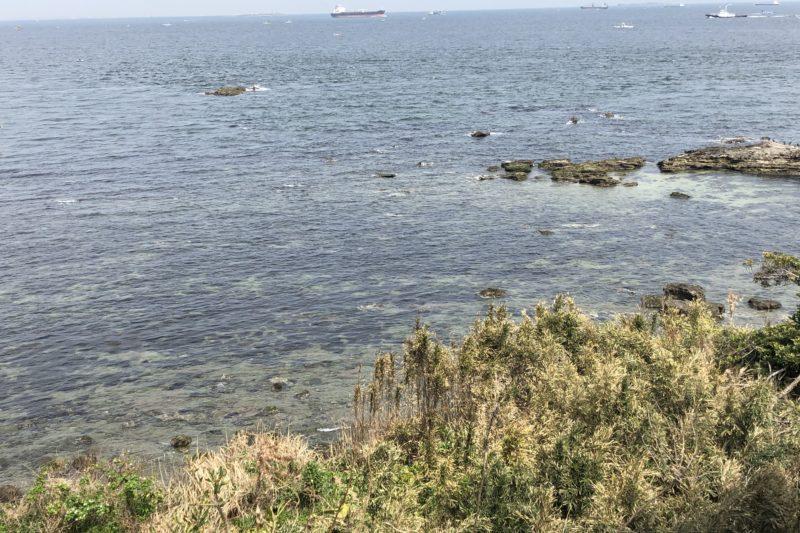 走水低砲台跡からの海の風景