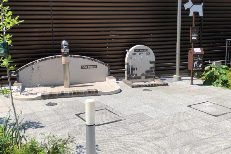 南町田グランベリーパークの犬のトイレ&足洗い場