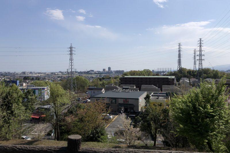 小山内裏公園の展望広場からの景色
