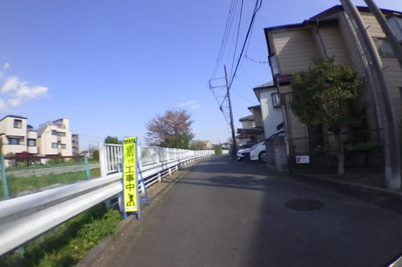境川の側道