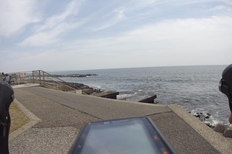 柳島の海岸
