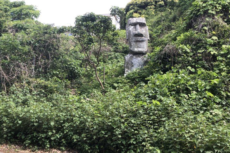 真鶴岬のモアイ像