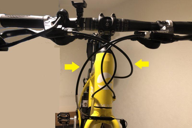 クロスバイクのブレーキライン